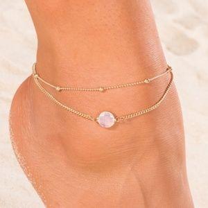 Jewelry - Crystal Boho Anklet Set
